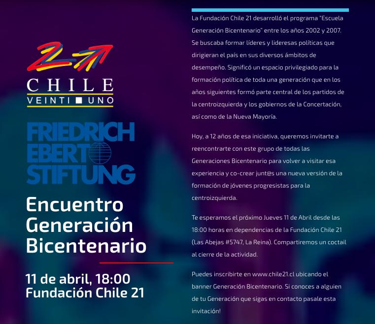 Reserva la fecha: Encuentro Generación Bicentenario