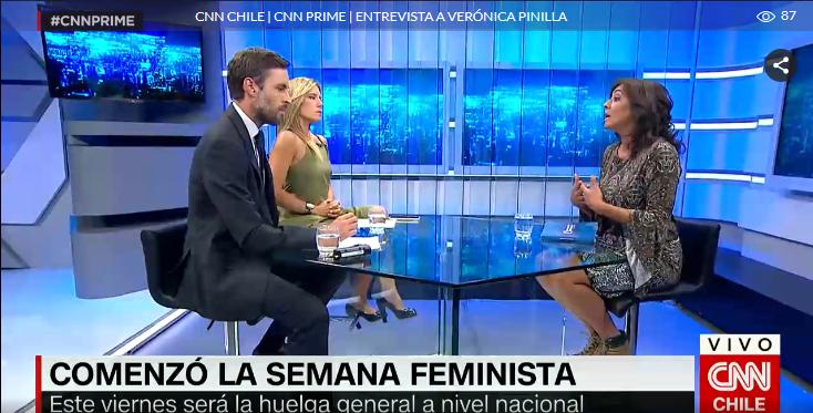 Verónica Pinilla participa en especial #8M de CNN Prime
