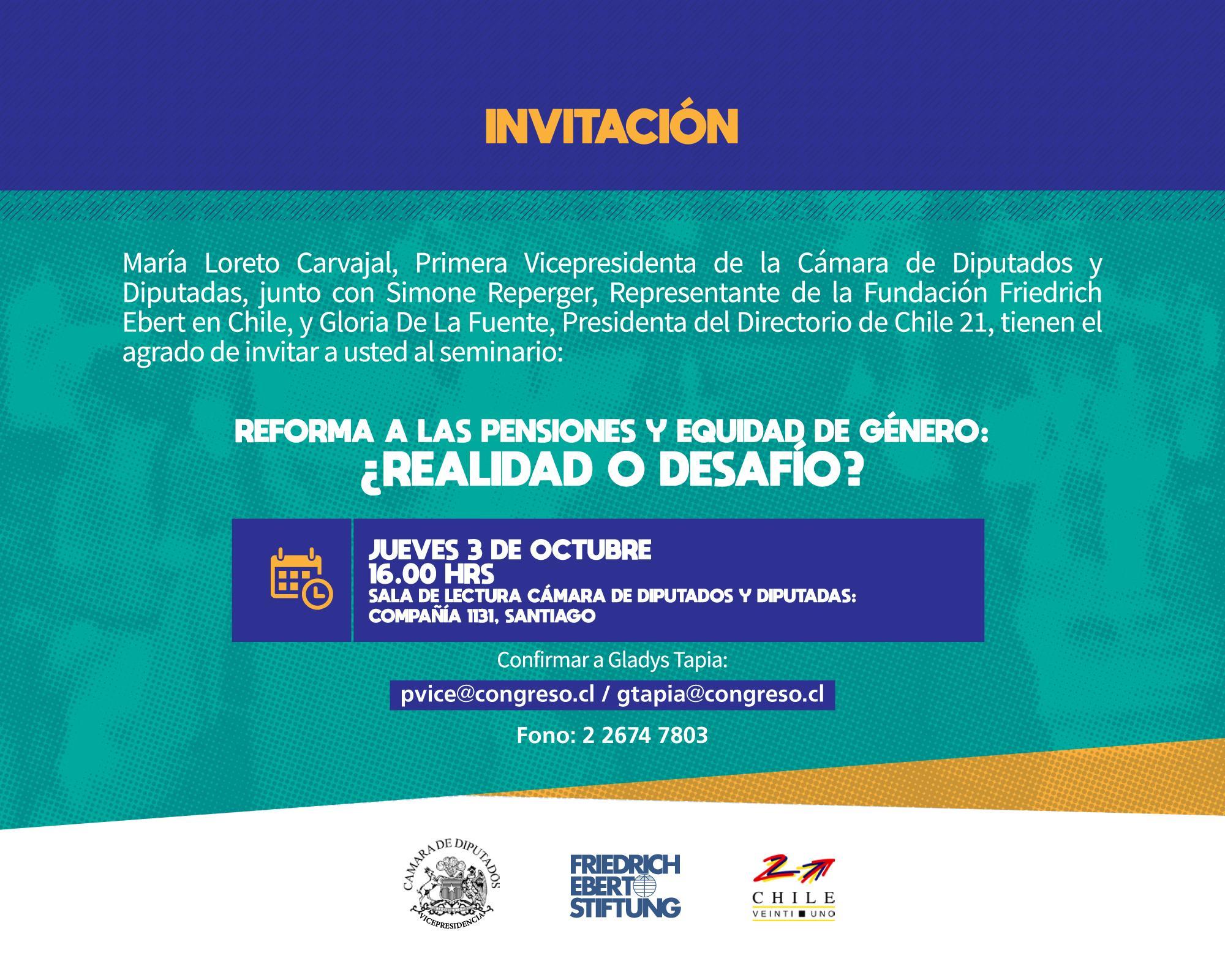 Invitación: Reforma a las pensiones y equidad de género: ¿realidad o desafío?
