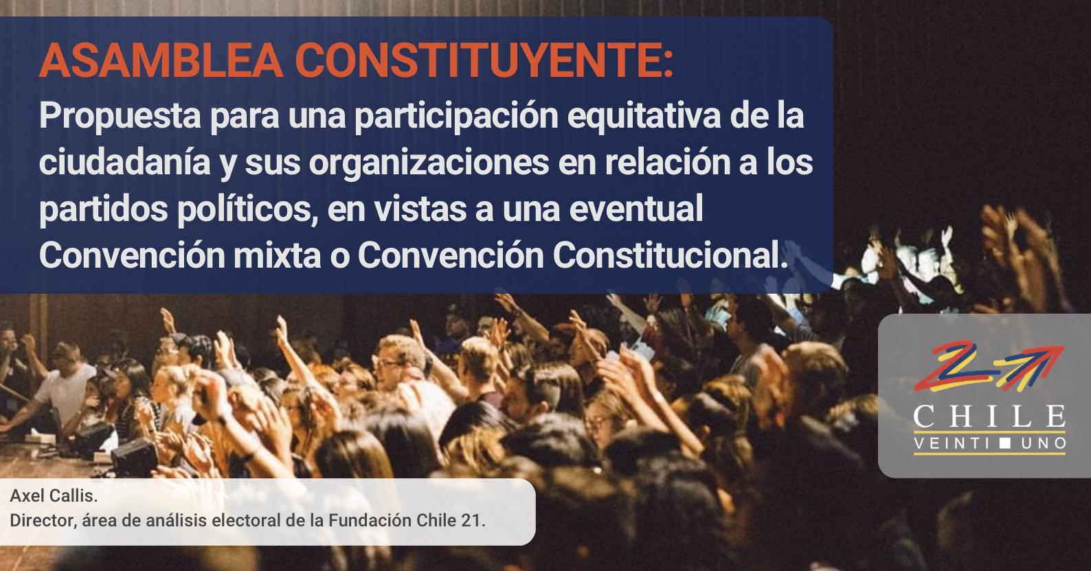 🗳PROPUESTA – ASAMBLEA CONSTITUYENTE:  Para una participación equitativa