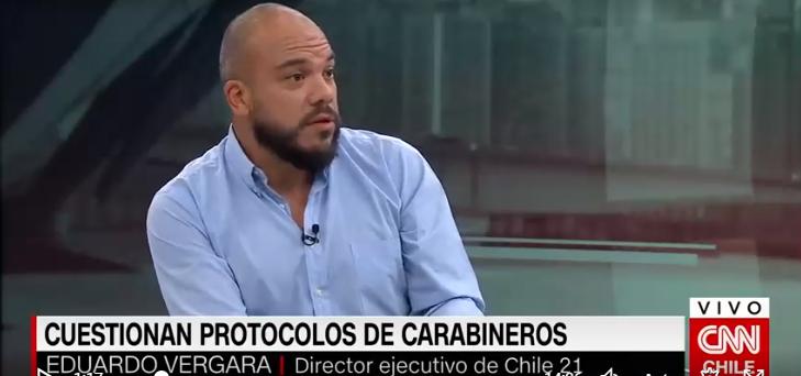 """Eduardo Vergara: """"Si el tono de Carabineros no cambia, podemos terminar con focos con verdaderas guerras civiles"""""""