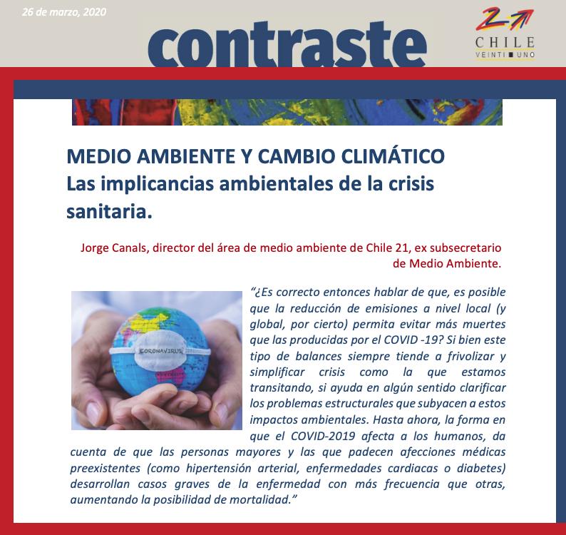 Medio Ambiente y Cambio Climático: Las implicancias ambientales de la crisis sanitaria.