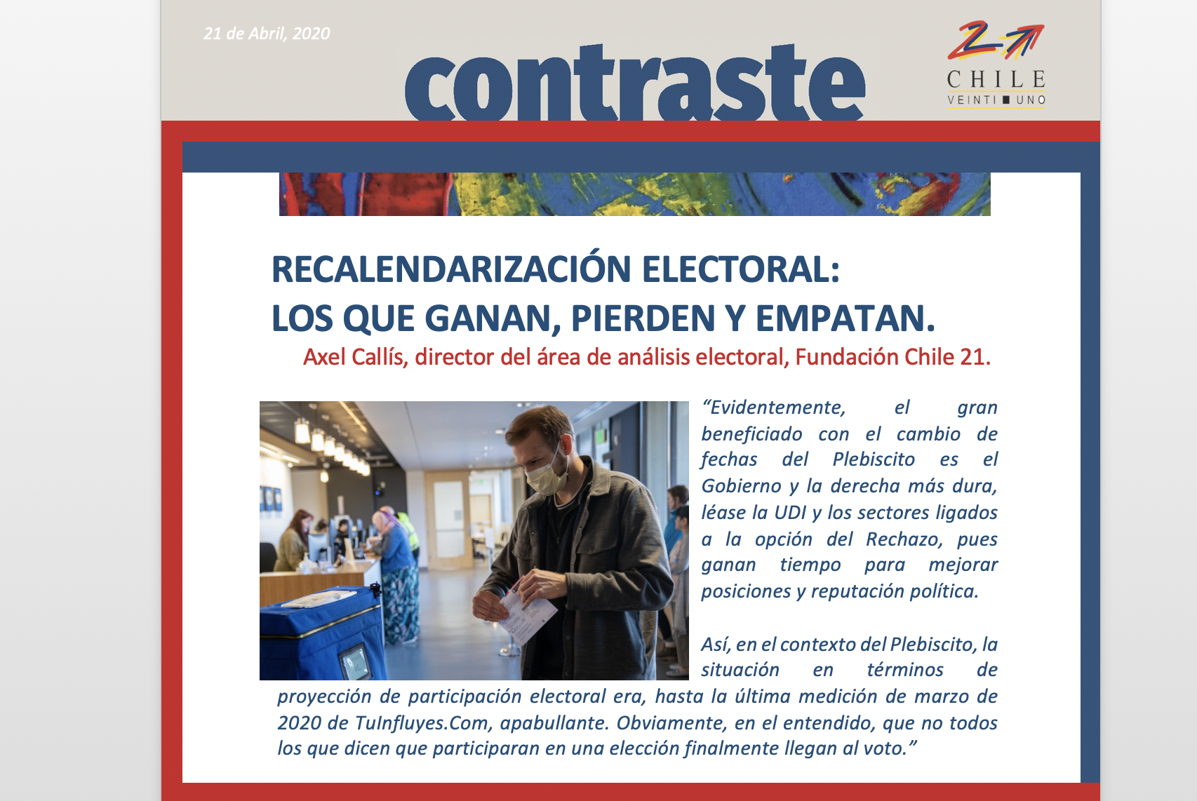 RECALENDARIZACIÓN ELECTORAL:  LOS QUE GANAN, PIERDEN Y EMPATAN.
