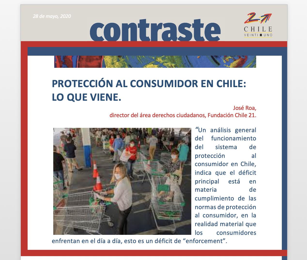 PROTECCIÓN AL CONSUMIDOR EN CHILE: LO QUE VIENE.