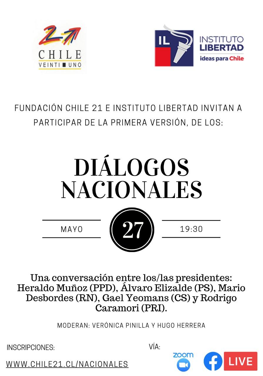 Diálogos Nacionales: Miércoles 27 – 19:30 hrs